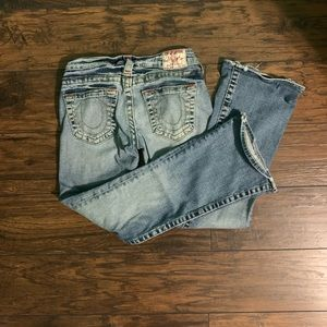 True Religion Light Wash Flare Jeans
